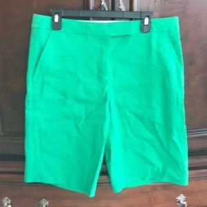 Elie Tahari Green Linen Shorts